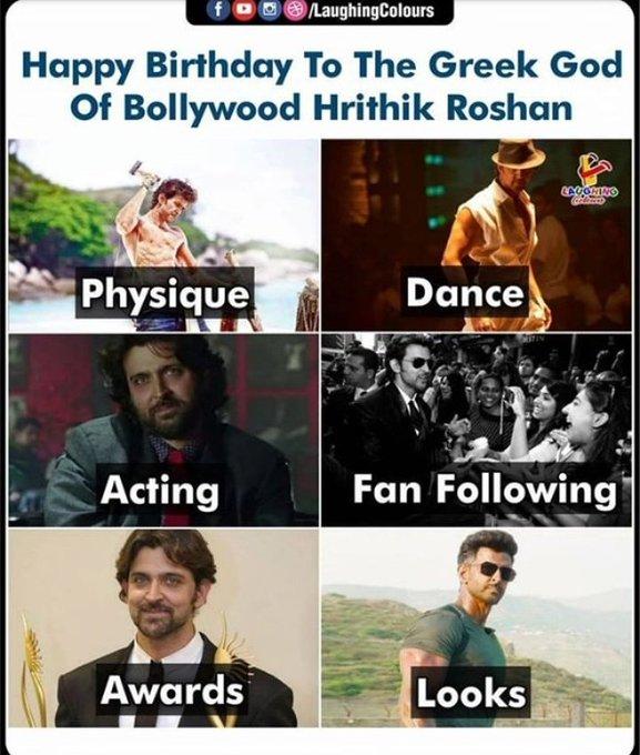 Happy Birthday to a most handsome boy Hrithik Roshan