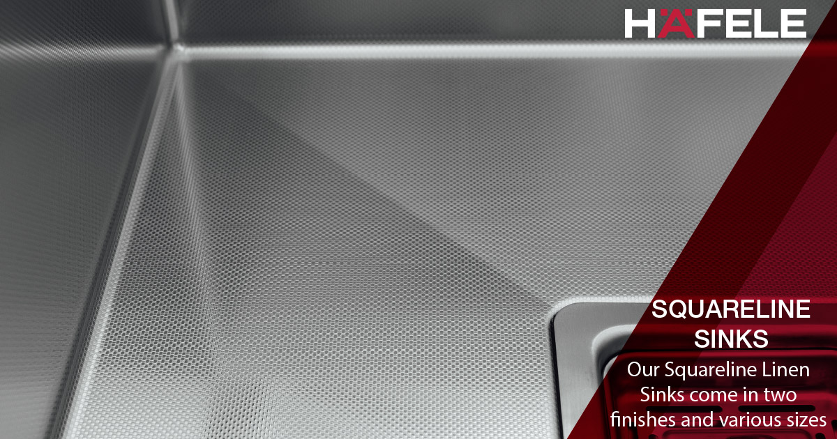 Our Squareline Linen Sinks are a popular choice from customers who want a unique touch in their kitchen. The special embossed design will be catching everyone's eye! Find out more about Häfele's sinks on our website http://www.hafele.com.au #HafeleAustralia #KitchenDesignpic.twitter.com/5weCt7ZQ7E