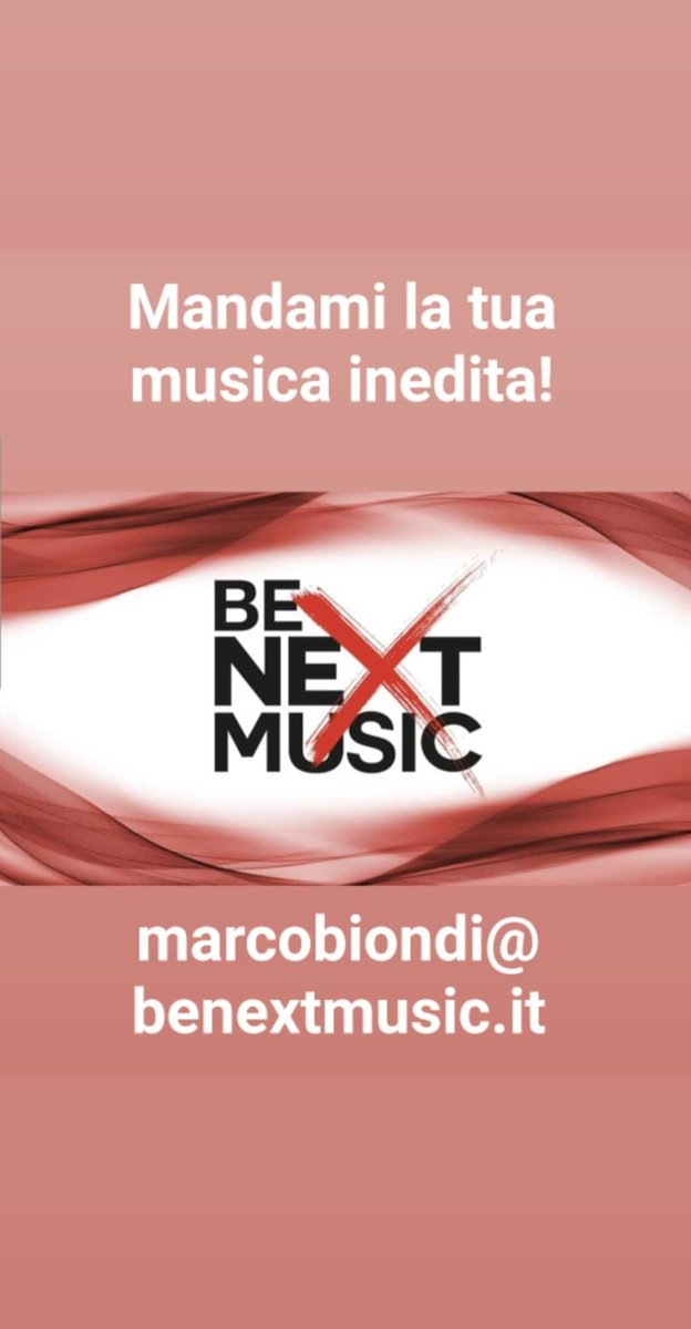 Mandami la tua musica inedita! marcobiondi@benextmusic.it #StatiGenerali #Musica #musicaemergente #Piazzapulita #10gennaio #ultimaora #NonStopMusic #nonstopnews #MasterChefIt #radiodeejay #radiofreccia #virginradio #radio1 #Radiopic.twitter.com/9G3vtWalPj