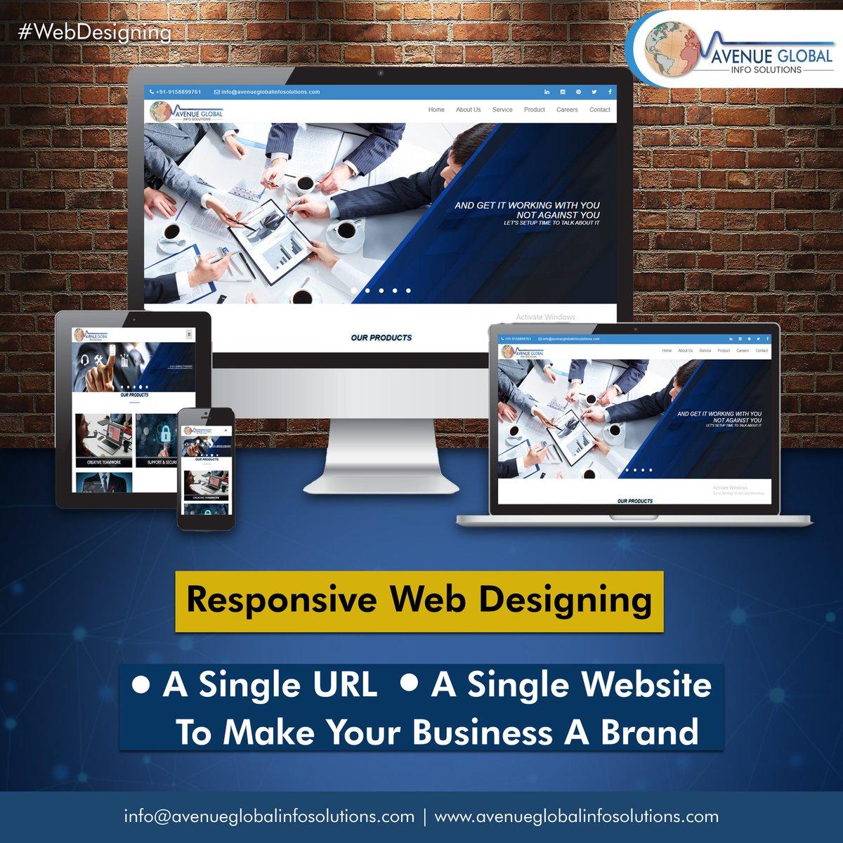All You Need a Responsive Web Desiging To Make Your Business a Brand! #webdesign #whywebdevelopment #webdesigncompany #websitedeveloper #webdesigntips #instatech #instatechno #socialmediamarketing #Avenueglobalinfosolutions #avenueglobal #AGIS #Webdesigning #Digitalmarketingpic.twitter.com/4tZ5plVGAM