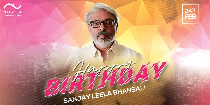 Happy Birthday to the Ace director of bollywood - Sanjay Leela Bhansali