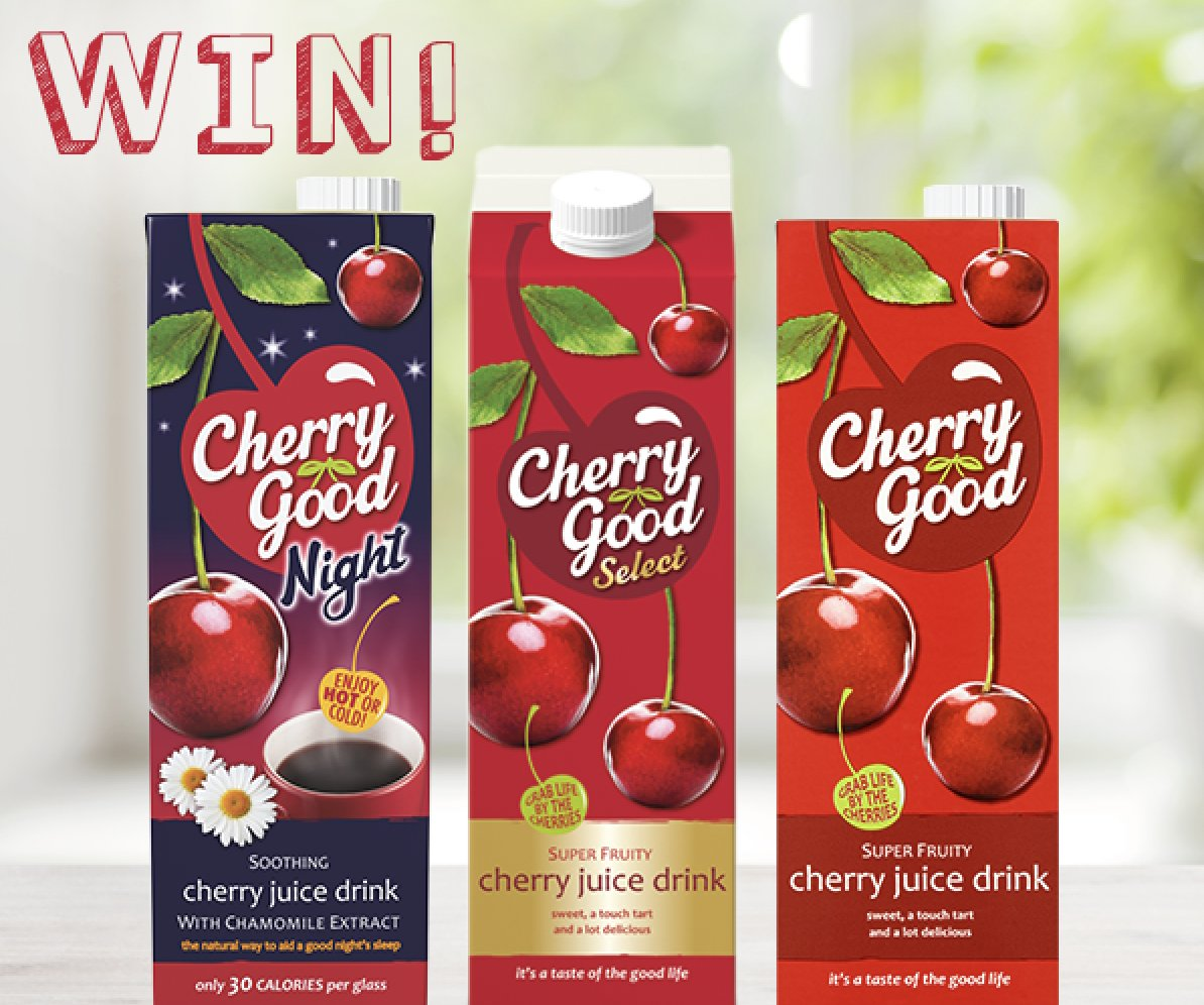 Follow, Retweet & Reply for the chance to Win 10 Cherry Good Vouchers! Enjoy a taste of the good life for free this January…Each voucher is valid for a free carton, UK Only, Ends 1pm 16/01, T&Cs Apply (See Bio) #FreebieFriday <br>http://pic.twitter.com/FCU1K2nYGr