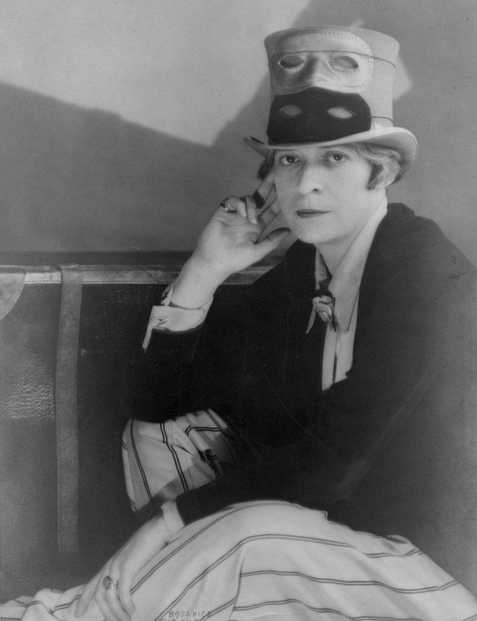 Portrait of writer Janet Flanner, Paris, 1927 by photographer Berenice Abbott #womensart