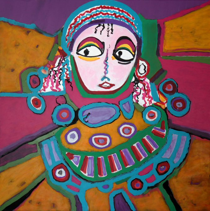 Chaïbia Talal (1929-2004), Moroccan painter and a major figure of Moroccos post-independence artistic community #womensart