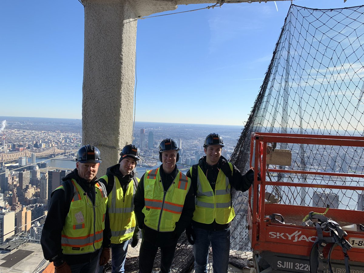 We toured @one_vanderbilt yesterday with our friends at @thorntontomasetti What an incredible feat of engineering! And the views! #constructionconsulting #construction #realestate #architecture
