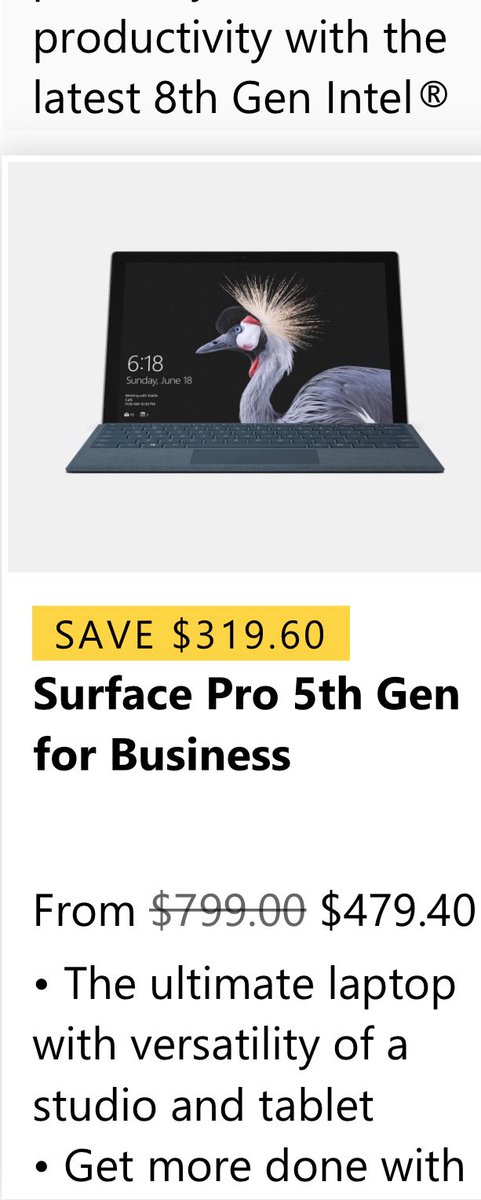 01.10.19- ONE MORE DEAL (for now) on http://annstechshop.com < check it out! #microsoft #SurfacePro5 #anndtechshoppic.twitter.com/ZjqfOraWXN