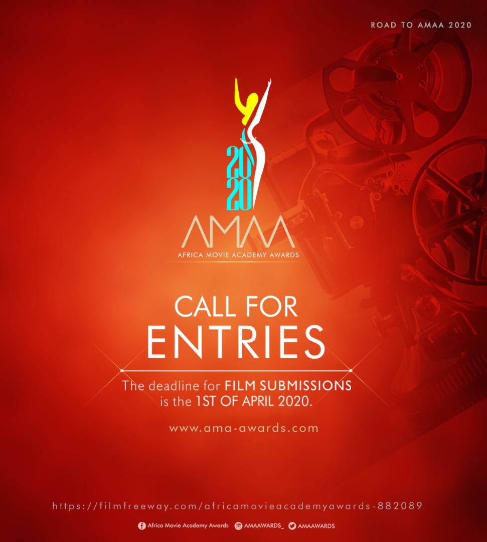 """""""A Call for Entries""""  AMAA 2020 Submissions are open Submit at  Film Freeway  Short Narrative, Narrative Feature, Short Documentary,  Feature Documentary, SUBMIT TODAY!!!!! @shadowandact @sylvainbeletre @MikeSteveAde @stevegukas @blackfilm #blackfilms #africancinemapic.twitter.com/iMsMt2PQuN"""