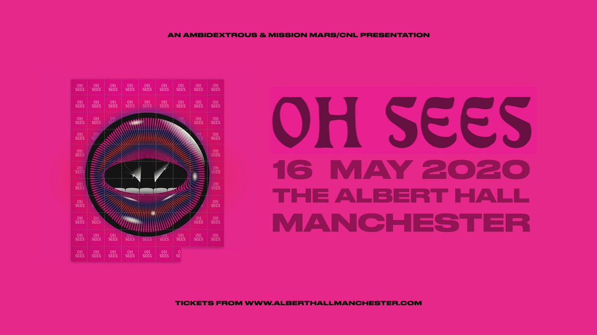 🎸 ON SALE NOW: Oh Sees - 16th May 🎸 👉 Tickets: bit.ly/2QXHDw7