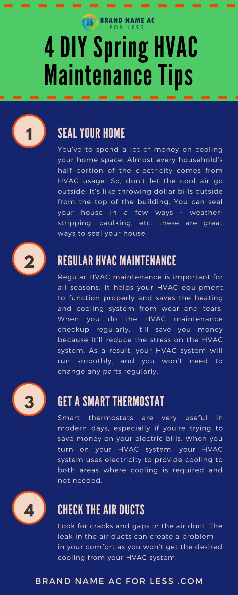 4 DIY Spring HVAC Maintenance