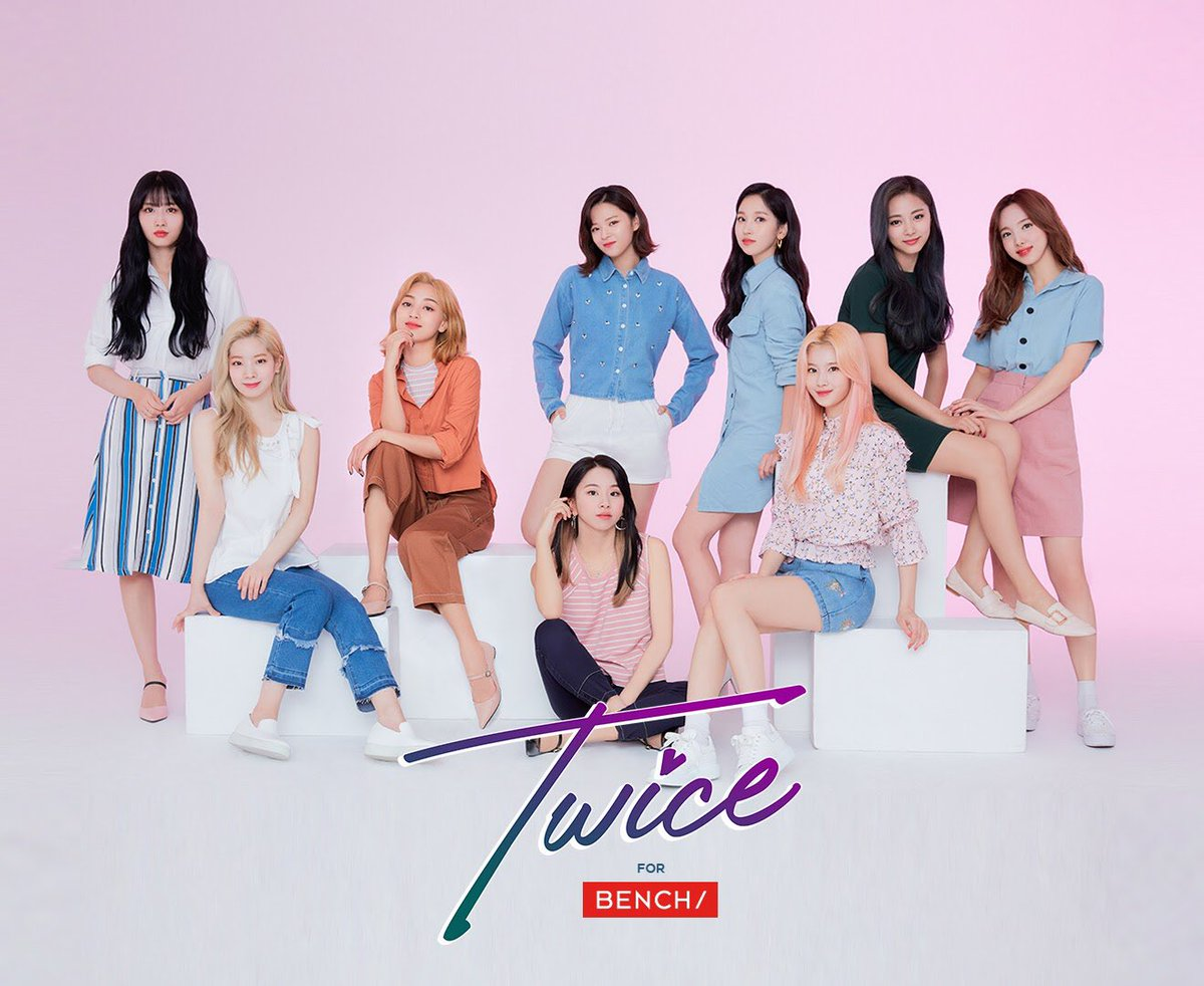 Who run the world? Girls like them. @JYPETWICE back at serving power statements in #BENCHEveryday  - Make sure to drop by select @benchtm stores and collect all exclusive Twice Pocket Calendars! See you there! #TwiceForBENCH #TWICExBENCH <br>http://pic.twitter.com/VQcvHJpCqX