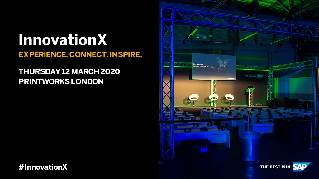 Discover how British industry leaders are harnessing new ways of thinking and new models to create growth and future proof businesses at #InnovationX, register today: http://sap.to/60131wx4f