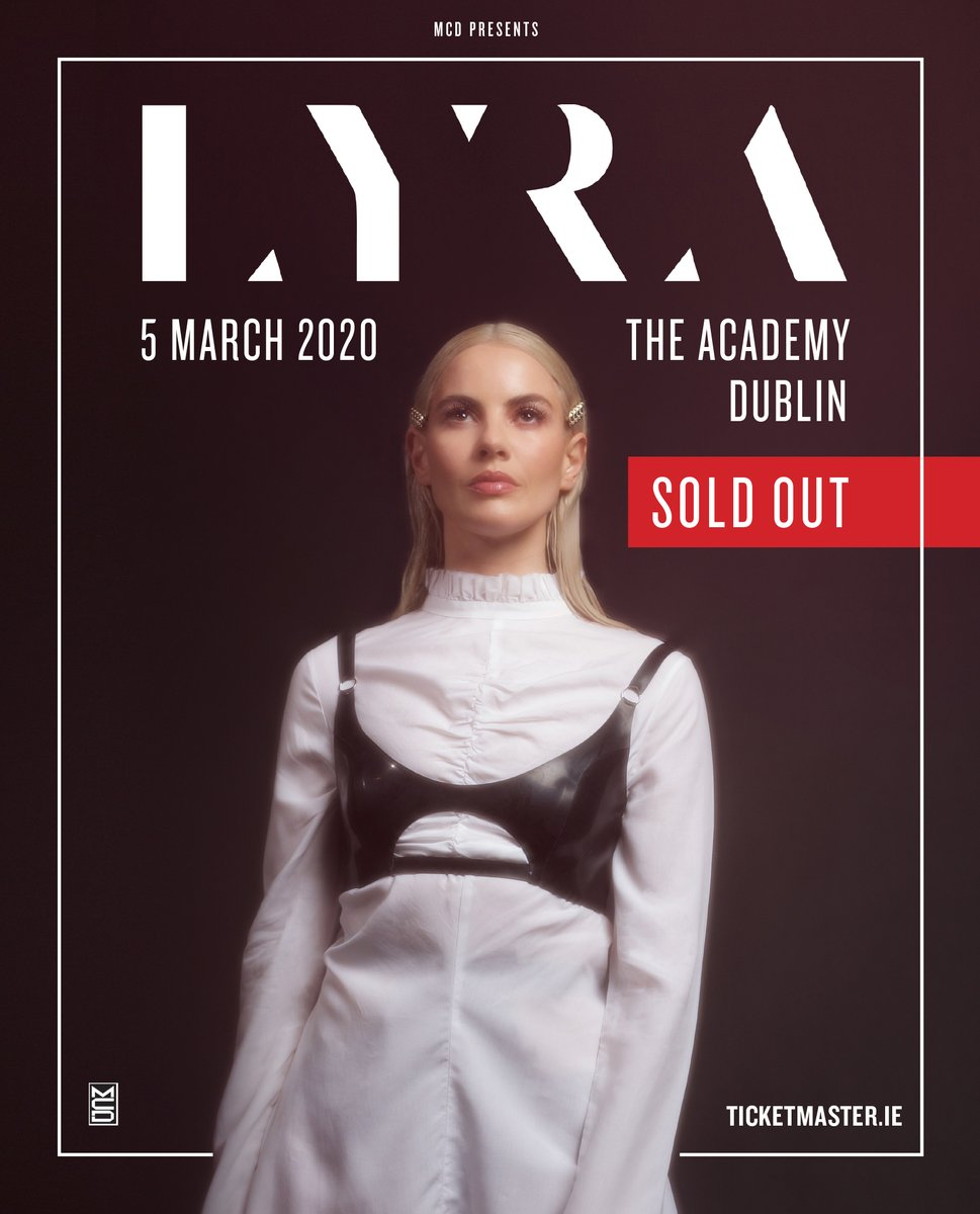 SOLD OUT // @thisislyra's show in the Academy on 5th March is now SOLD OUT!