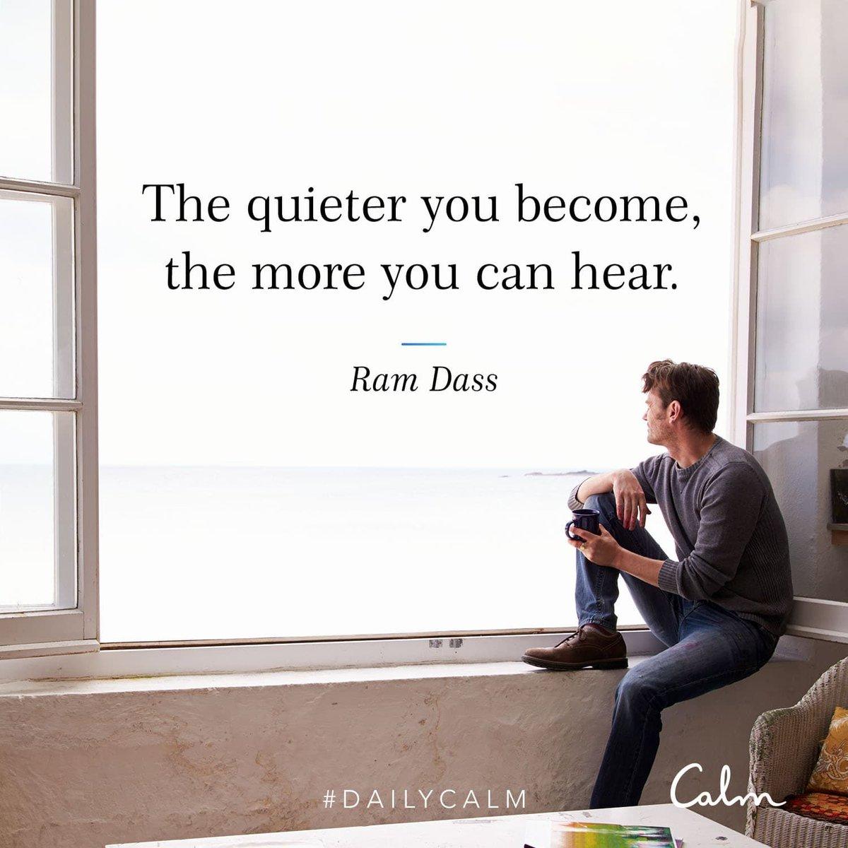 When you get quiet, what arises? @babaramdass #DailyCalm