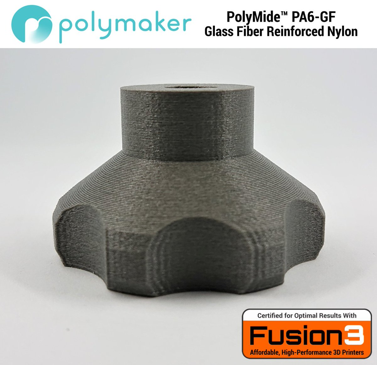PolyMide™ PA6-GF is now certified on the @Fusion3DPrint 3d printer.