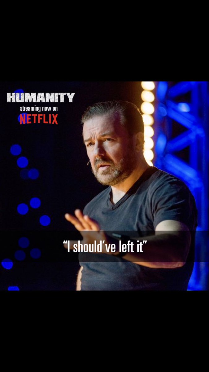 To my 500,000 new Twitter followers: If you liked my 10 minutes at The Golden Globes, then you might like my last Stand Up Special #Humanity on Netflix.