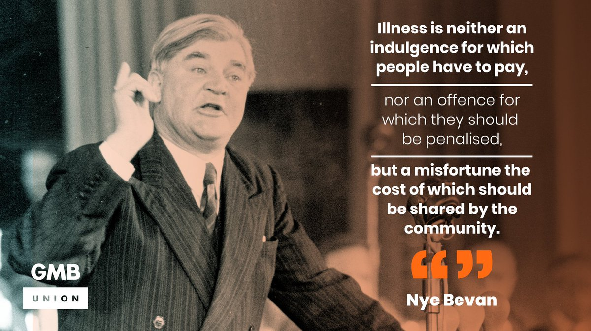 #OTD 1946. Nye Bevan met with the BMA to seek doctors support for the creation of our NHS. In 1948, despite resistance, the health service was born. 74 years on lets remind ourselves of the struggle to create our NHS and let it strengthen our determination to defend it.