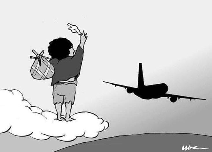 Ani Guibahi Laurent Barthélémy è il nome del ragazzino trovato morto mercoledì a Parigi nel carrello di atterraggio dell'aereo proveniente da Abidjan. Aveva 14 anni.Disegno di Claudia Faion.https://www.repubblica.it/cronaca/2020/01/09/news/in_memoria_di_un_bambino_morto_in_aereo_sognando_l_europa-245287846/?ref=RHPPLF-BH-I245419762-C8-P2-S2.8-T1…