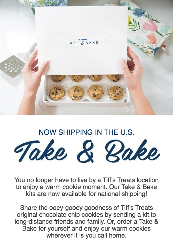 Now you can order 🍪 for a great cause to be shipped to you from @tiffstreats for their charity competition. ▪ go to cookiedelivery.com ▪ use RANDOM20 at checkout ▪ 10% of the sale goes to us At months end, the charity with the highest sales also gets a $10K donation!