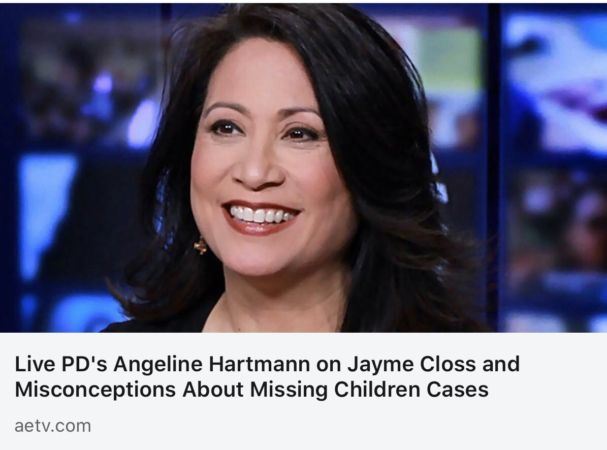 One year ago today, Jayme Closs escaped after being held captive for 3 months. Here's an interview with @AETV about the day we heard the news. Learn more about @MissingKids & our amazing partnership with @OfficialLivePD   https://www. aetv.com/real-crime/ang eline-hartmann-interview-jayme-closs  …  #LivePD @LivePDNation<br>http://pic.twitter.com/TBvUzmw5OI