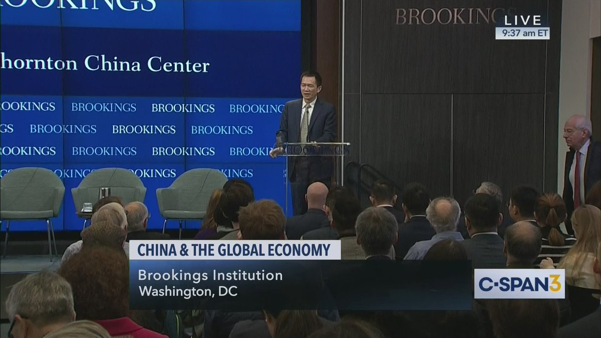 Discussion on China & Global Economy, @brookingsinst hosts – LIVE on C-SPAN3 cs.pn/2TcxRcc