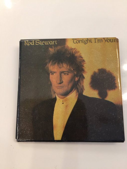 I will not be fully dressed without this 40 year old pin from my first Rod Stewart concert! Happy Birthday Sir Rod!
