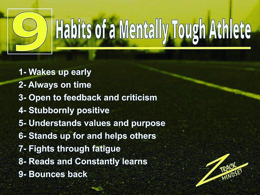 Create great habits! #mindsetmakesthedifference #trackandfield