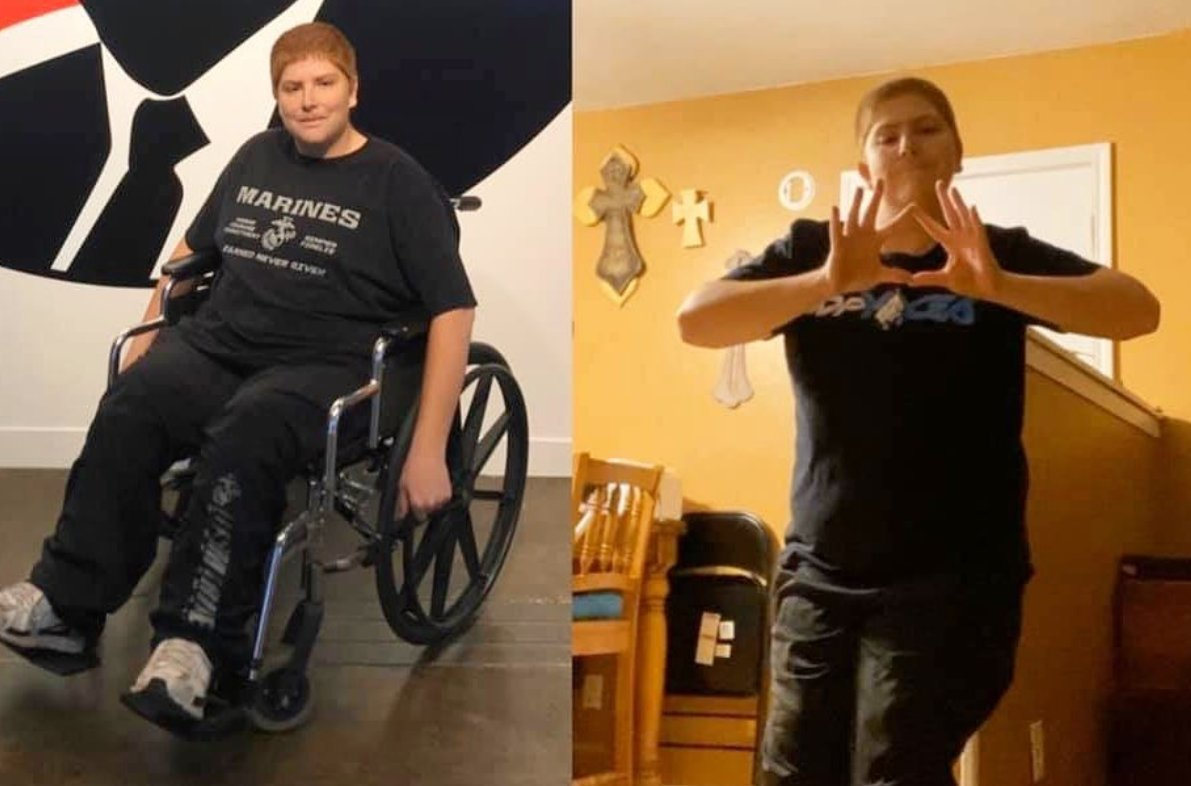 Check out Logan's INCREDIBLE transformation!  11 months of DDPY and Logan can now stand for a short period of time against a wall without his crutches #DDPY is here to change lives  #DDP #FitnessGoals #Inspiration #Goals<br>http://pic.twitter.com/H6LijZZYc6