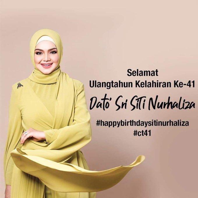 Happy Birthday Dato Sri Siti Nurhaliza tersayanggggg