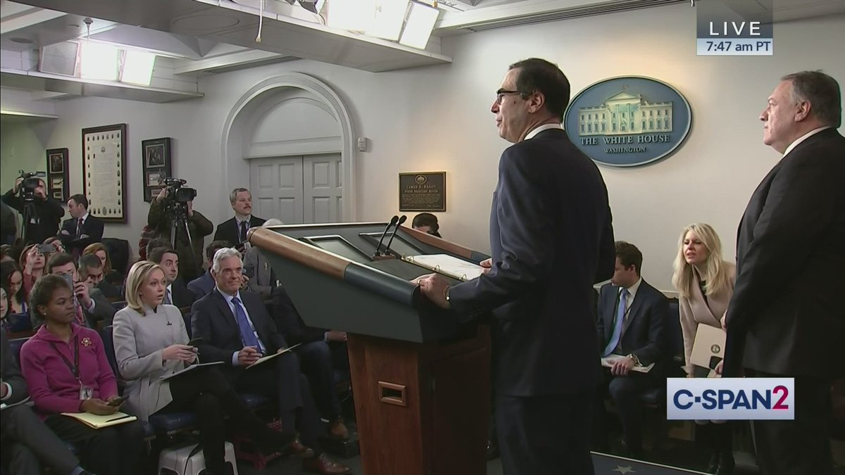 White House Press Briefing with @SecPompeo & @stevenmnuchin1 – LIVE on C-SPAN2 cs.pn/2sVLRN2