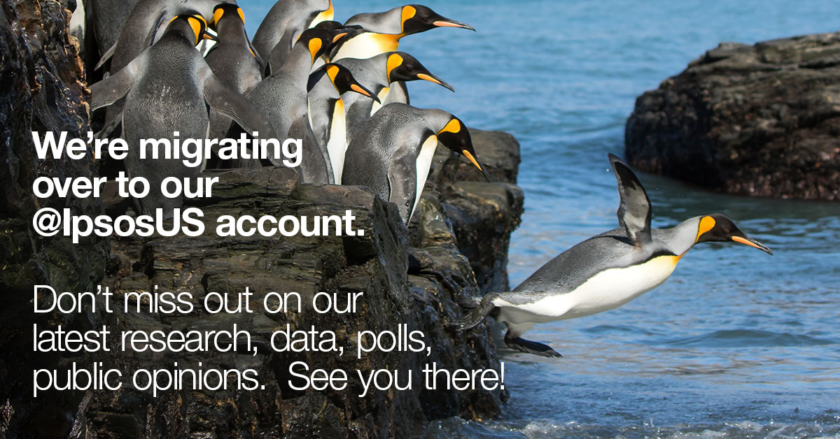 Don't miss our latest research, data, polls and thought leadership. Follow @IpsosUS