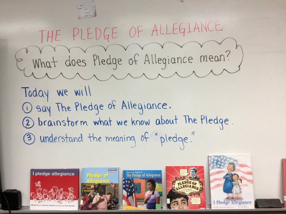 K, 1, and 2 brainstorm what they think they know about The Pledge of Allegiance. <a target='_blank' href='http://twitter.com/OakridgeConnect'>@OakridgeConnect</a> <a target='_blank' href='https://t.co/mXC3mFTj2l'>https://t.co/mXC3mFTj2l</a>