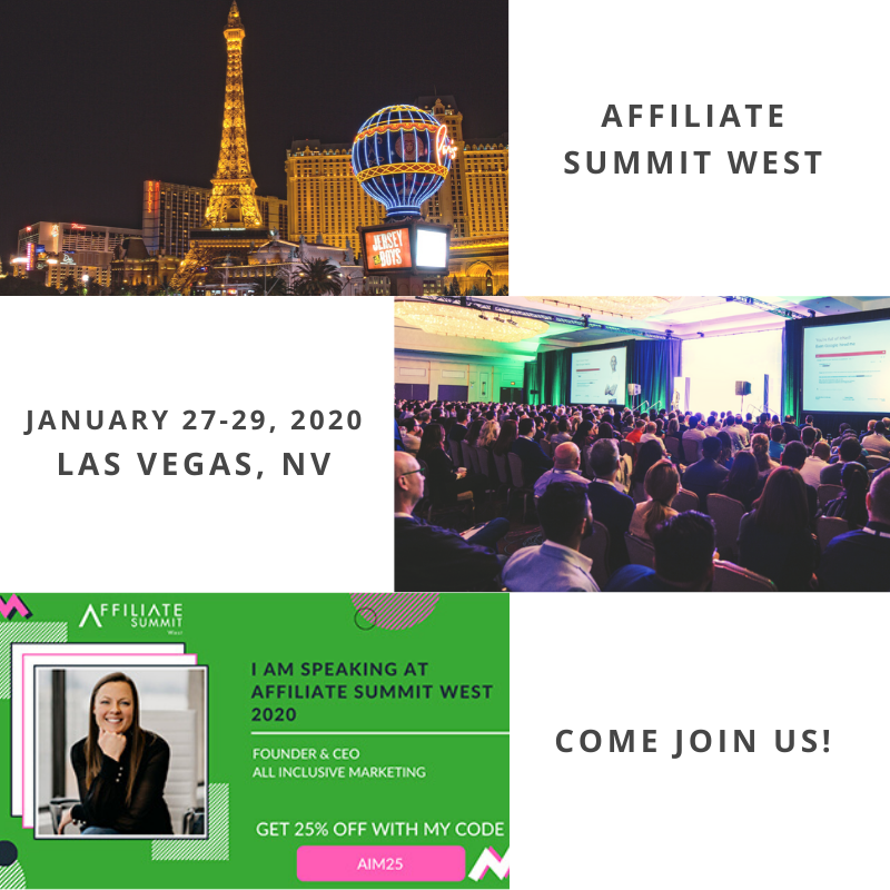 Affiliate Summit West is THE performance marketing event in the world! Use our code AIM25 to receive 25% off & come hear from our very own CEO and Founder!  Contact us today to reach out & schedule a meet-up. http://bit.ly/aim-contact-us   #event #affiliatemarketing #AIMforSuccesspic.twitter.com/s5JrMIZLeM