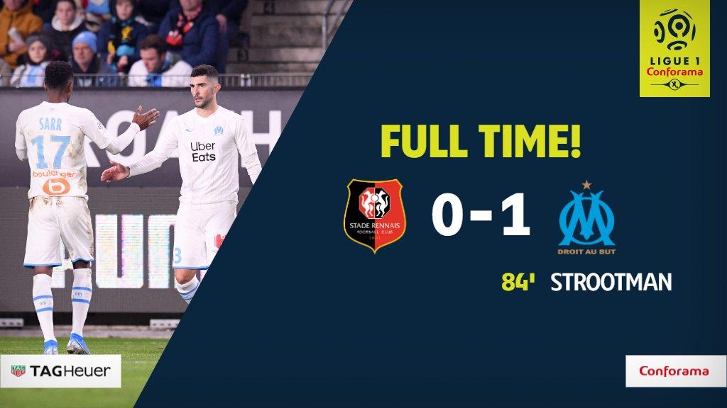FULL TIME! #SRFCOM  @OM_English gets the job done in Rennes. <br>http://pic.twitter.com/0vmpfFzB8u