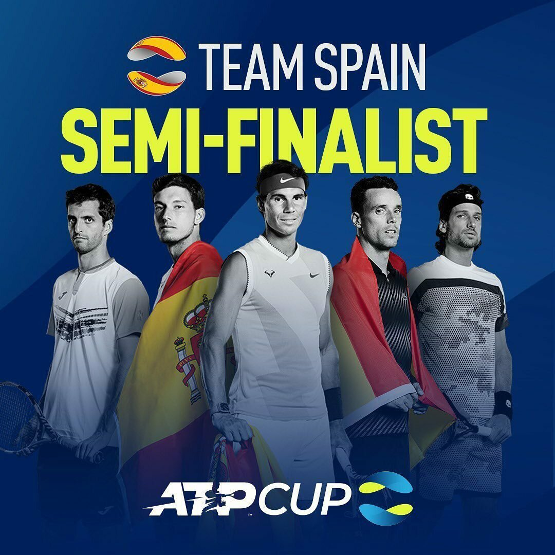 What a battle today! 🇪🇸 Spain vs Australia tomorrow 6:30pm (Sydney) 8:30am (Spain) #TeamSpain @ATPCup
