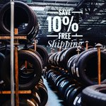 Image for the Tweet beginning: Need tires? Save 10% off