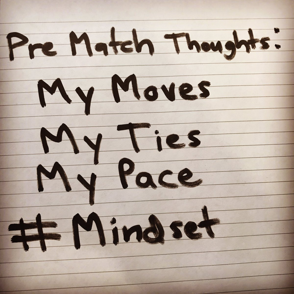 What are you thinking before your matches when you wrestle best? #Mindset