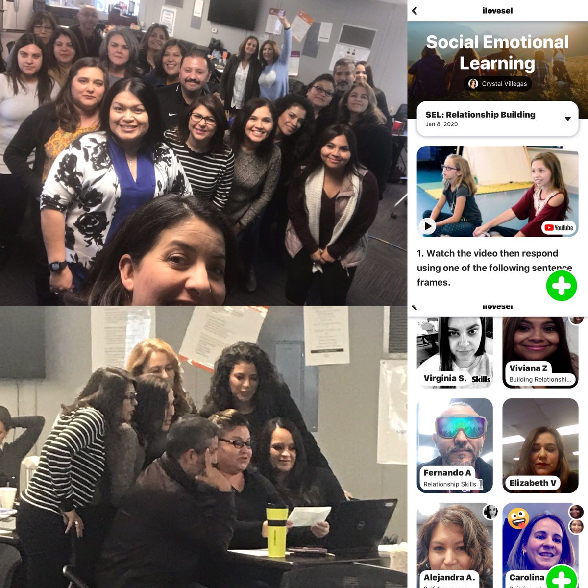 """Crystal Chavez on Twitter: """"Ts Getting their feet wet with @Flipgrid  yesterday to encourage Relationship Building in class #SEL Many had heard of  it, some never experienced it themselves , now they"""
