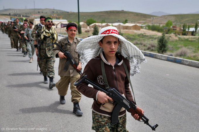 Photo of a child soldier