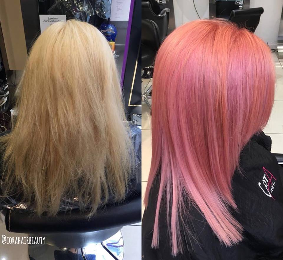 Brighten up your day 🎨    Style Director, Aroug  remembers one of her favourite makeovers, what's your favourite shade? Get  ready to play with #ColourFresh CREATE. Try a free consultation for more #hairinspo #askforwella #stylistsdoitbetter #wellaprofessionals @corahairbeauty