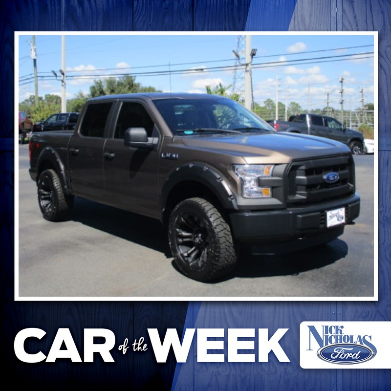 Our #CarOfTheWeek is a 2015 #Ford #F150 with 14,442 miles. Down to just $29,950, this Caribou Metallic truck features 52 cubic feet of cargo space, 4WD, and much more. Check it out at Nick Nicholas Ford before it's gone! http://bit.ly/2NgjX5fpic.twitter.com/q8NEWotMvI