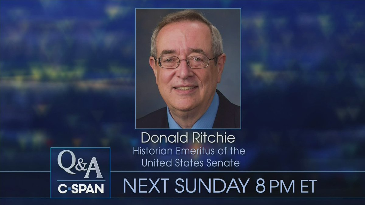 This week on Q&A, Donald Ritchie, Historian Emeritus of the U.S. Senate, talks about the process and history of Senate impeachment trials – 8pm ET on C-SPAN cs.pn/2QGiG9H