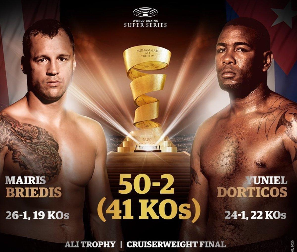 UNVAN BİRLEŞTİRME  WBO Şampiyonu Briedis ile IBF Şampiyonu Dorticos arasında yapılacak Muhammed Ali Kupası Yarı Ağır Sıklet Finali 21 Mart Cumartesi Akşamı Riga'dan Canlı Yayınla DMAX'te... Kim kazanır dersiniz? @dmaxtr @boksgecesi #BoksGecesi #BriedisDorticos #alitrophy🏆 https://t.co/IlvIUI1SLQ