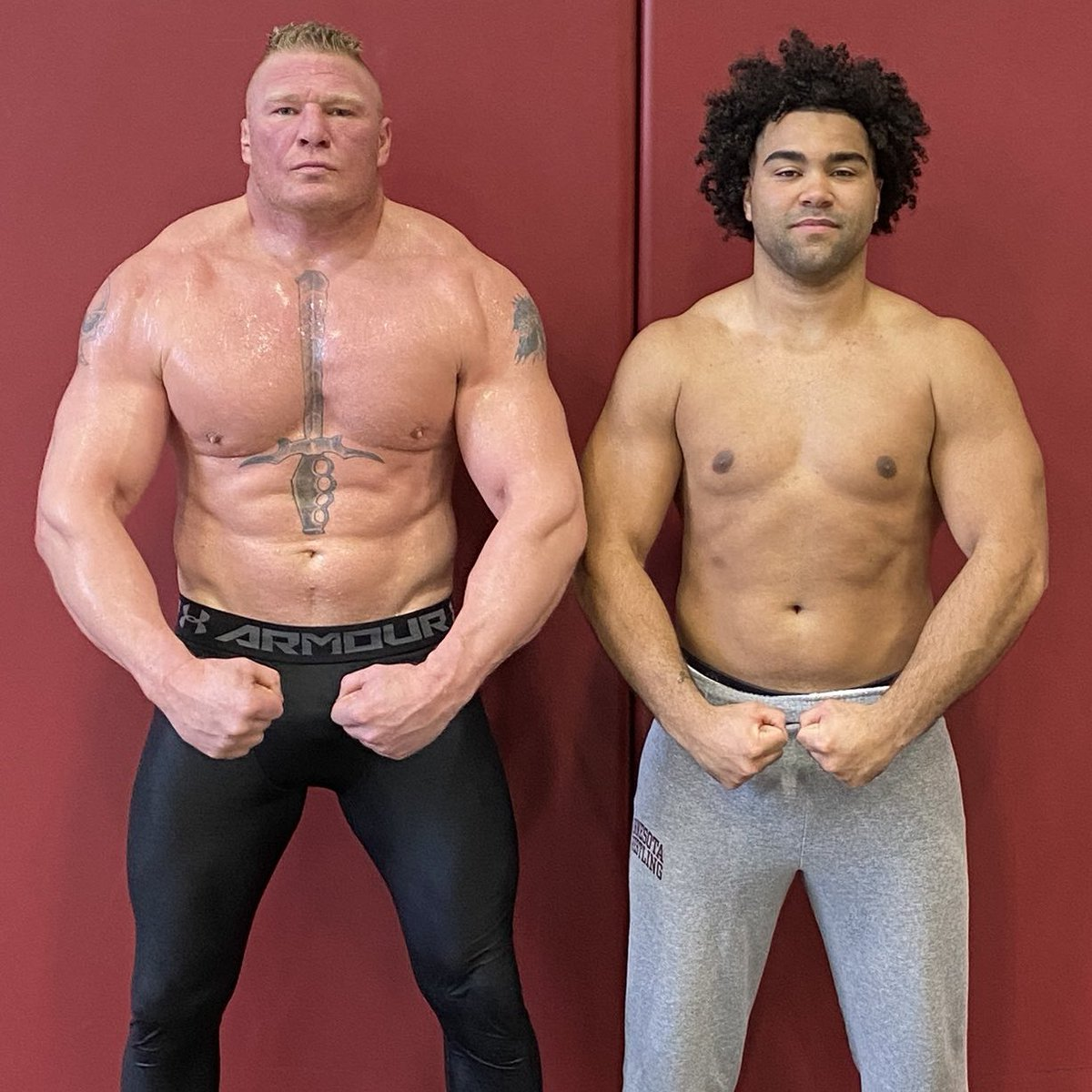Friendly reminder that Brock Lesnar is a genetic freak. 👀 (via @GSteveson)