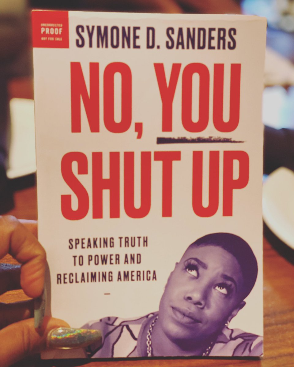 'No, You Shut Up' coming May 2020 from @harperbooks!!! 'No, You Shut Up' gives you (only how I can) a take-no-prisoners approach to life, politics, & career success, & shows a new generation how to be loud and powerful in their own right. Pre-order: http://www.symonedsanders.com/book  ❤️