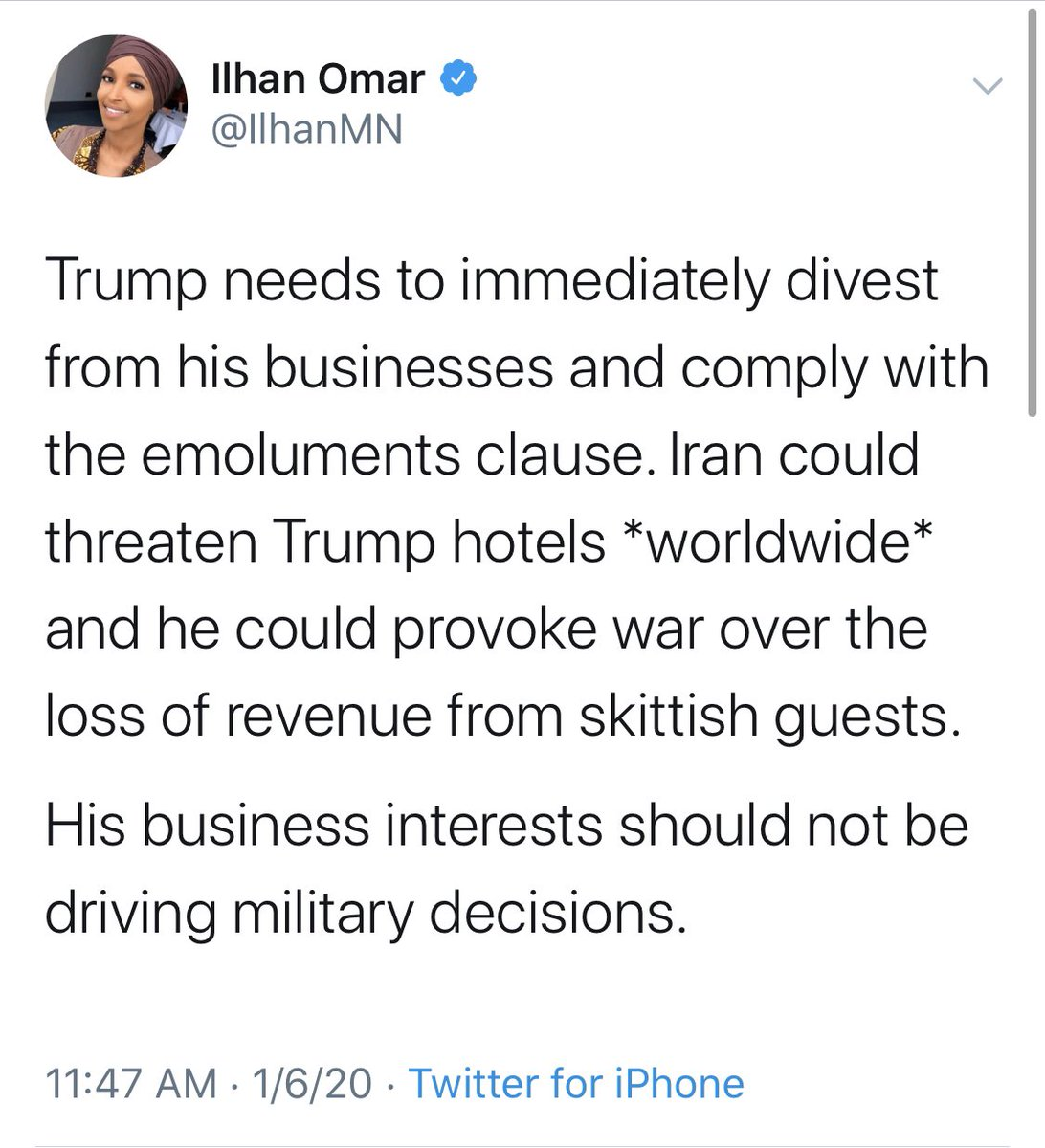 Everyone, please retweet this. I want the entire country to see this! This was tweeted on January 6th. This afternoon, an Iranian National with multiple weapons was arrested near Mar-A-Lago. Who you choose to represent you is a big deal. I will defeat Ilhan in November.