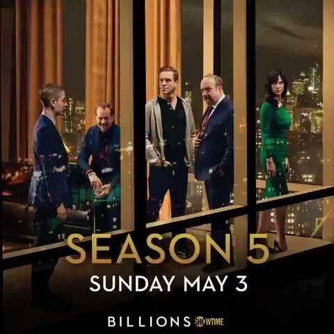It's back to business. #Billions season 5 premieres Sunday May 3 on #Showtime.