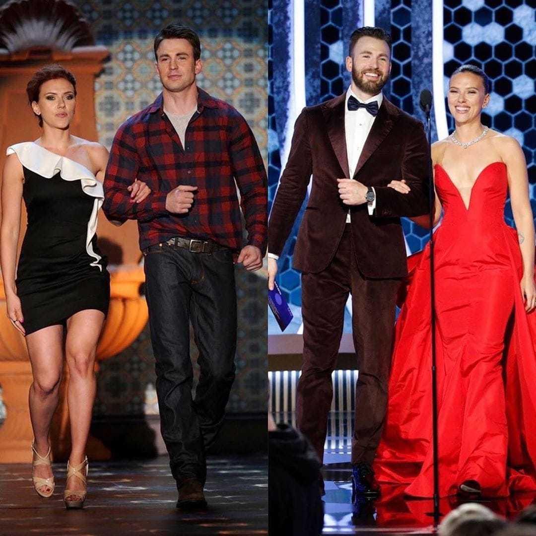 Chris Evans e Scarlett Johansson em 2011 e recentemente em 2020. Vocês acham que eles mudaram muito?pic.twitter.com/xpJt4ZoQYm