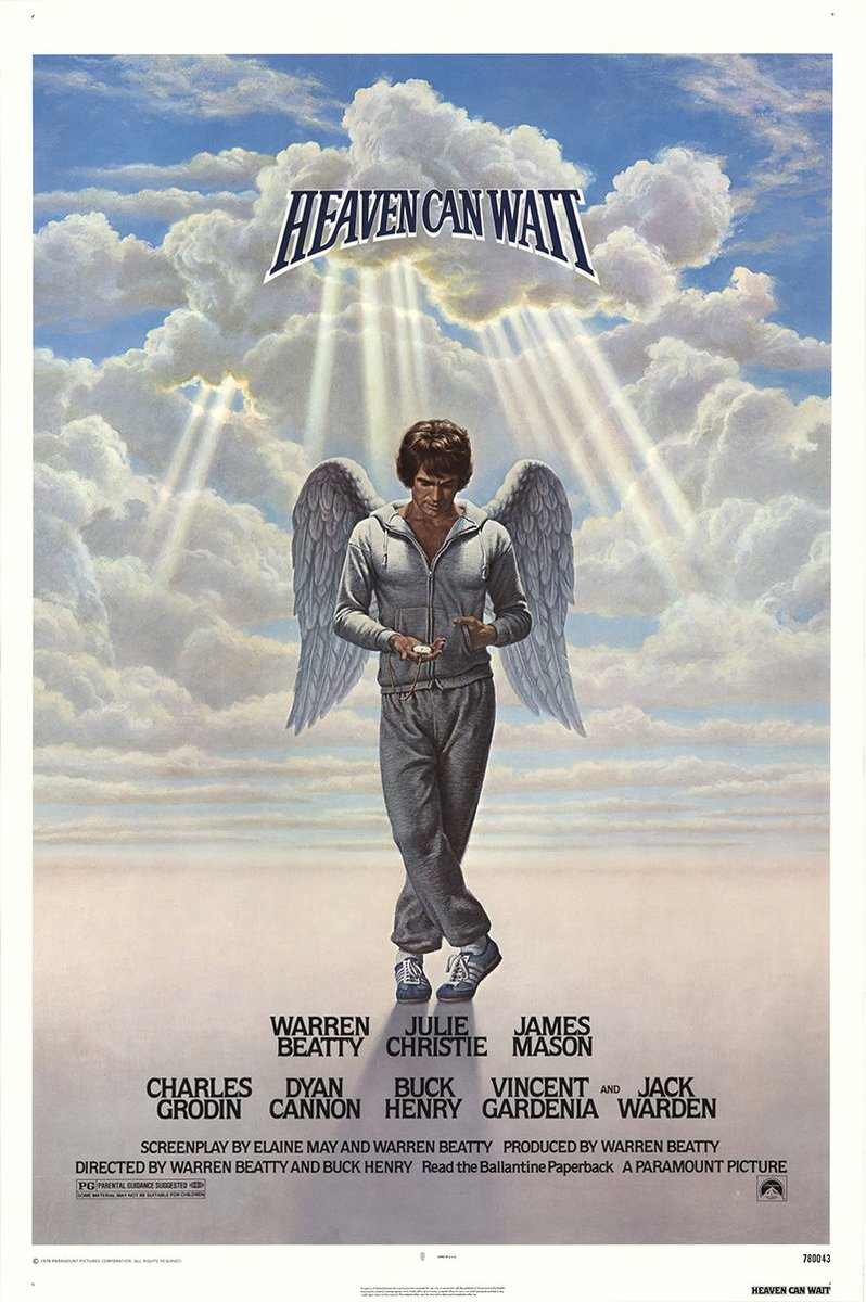 Our 1st #SportsFlixFriday #POTD is also a goodbye to the great #BuckHenry, who is responsible for writing some of the best films & tv in history! 1978's #HeavenCanWait is beautiful #romcom that was directed by #WarrenBeatty & #BuckHenry...who also played an angel. #RIPBuckHenrypic.twitter.com/21oRXqyDiQ