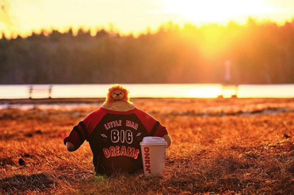 Nickleby likes to kick off the morning with a hot cup of java while he's dreaming big dreams. In case he forgets to dream big, he bought himself this shirt. Right now, he's dreaming of a second cup of coffee. 📸 : @nickleby.tinyhead