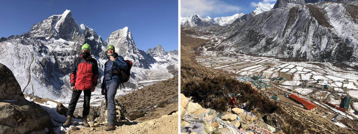 Update from http://ChristmasNewYearTrekNews.com   Dec 27 - We hiked to the mountain nearby to Dingboche and reached altitude of 5100 meters - that is good preparation for Everest Base Camp.  Dec 26 - We came to Dingboche. Here we stay again for two nights.